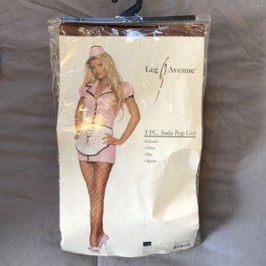 Leg Avenue 3pc Soda Pop Girl Costume Large